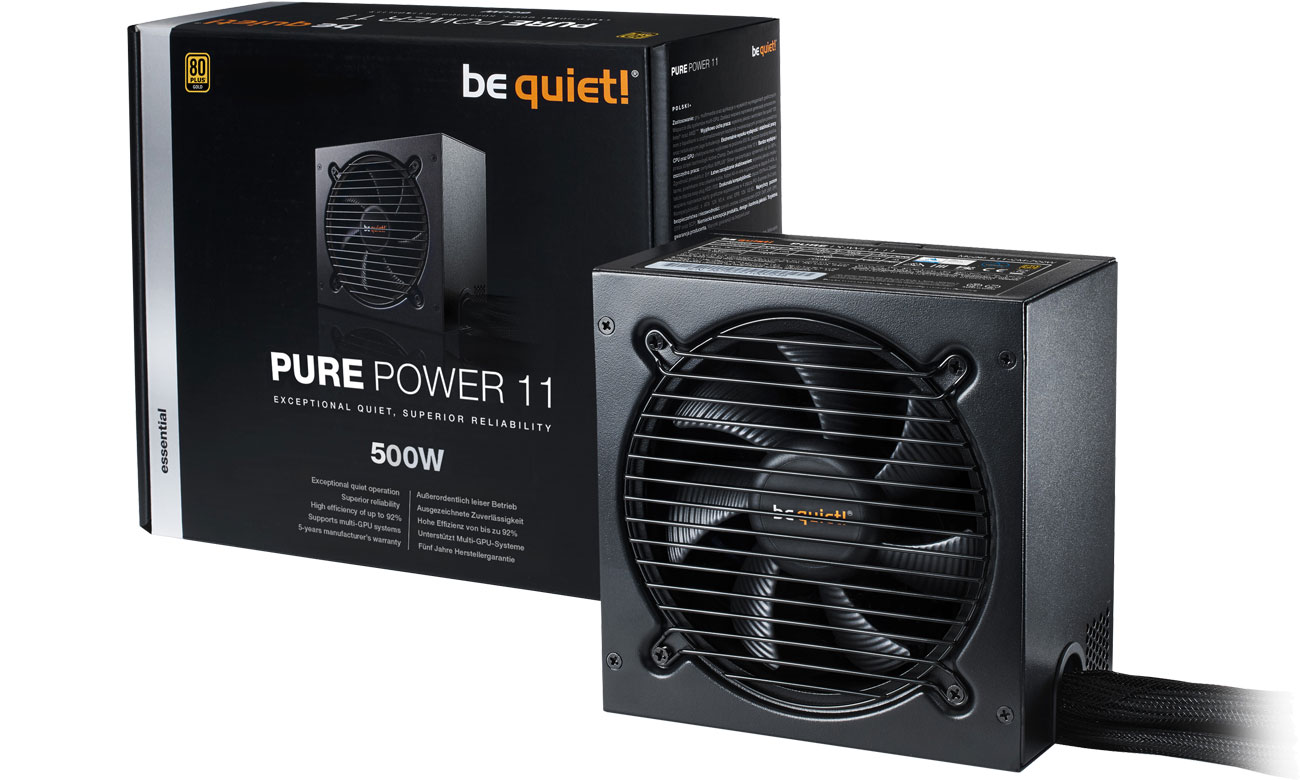 Zasilacz komputerowy be quiet! 500W PURE POWER 11 BN293
