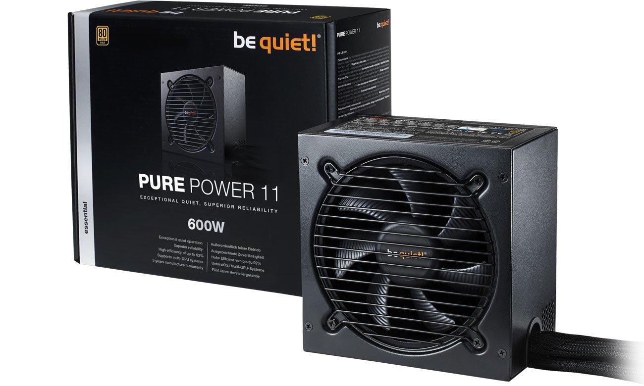 Zasilacz komputerowy be quiet! 600W PURE POWER 11 BN294