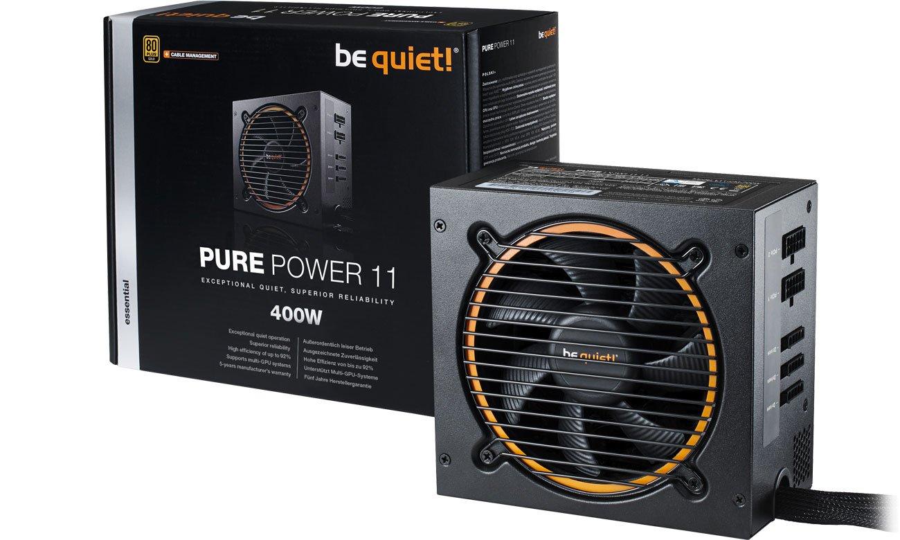 Zasilacz komputerowy be quiet! 400W PURE POWER 11 CM BN296