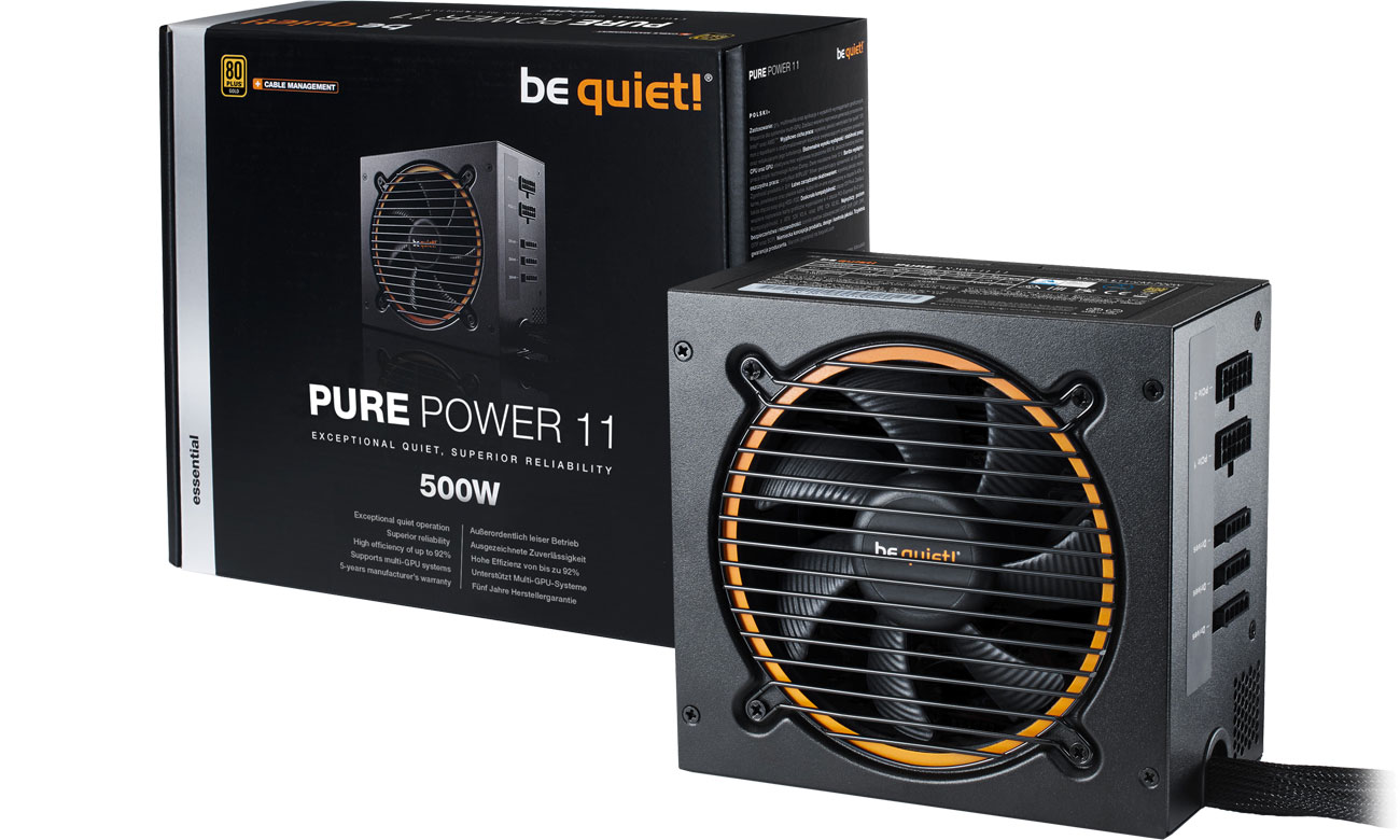Zasilacz komputerowy be quiet! 500W PURE POWER 11 CM BN297