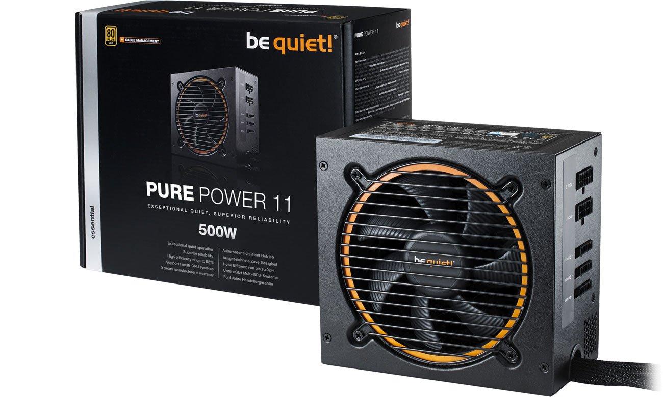 Zasilacz komputerowy be quiet! 500W PURE POWER 11 CM BN297