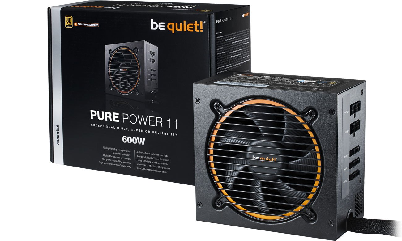 Zasilacz komputerowy be quiet! 600W PURE POWER 11 CM BN294