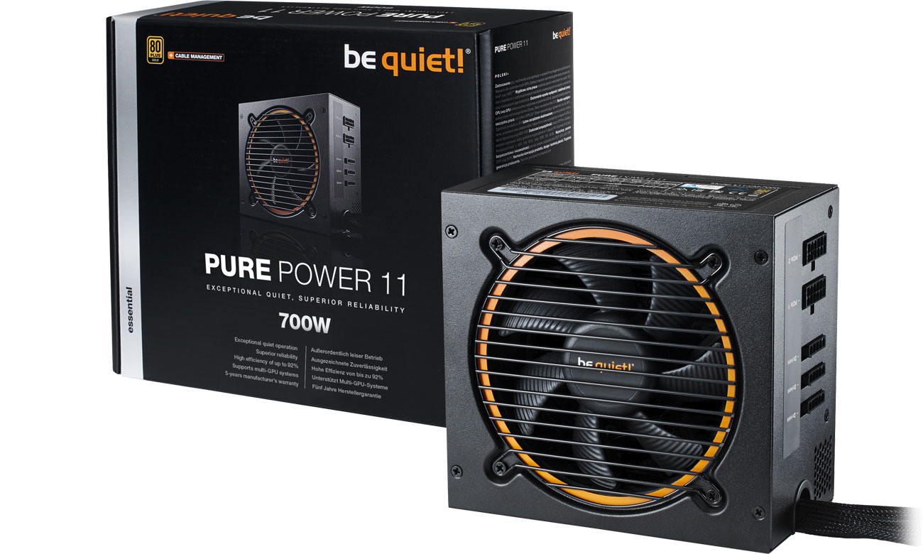 Zasilacz komputerowy be quiet! 700W PURE POWER 11 CM BN299