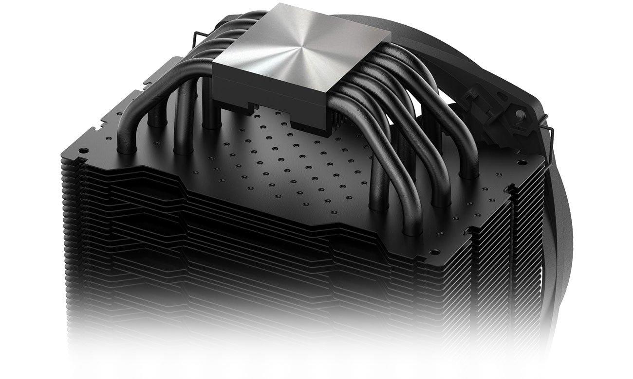 be quiet! Dark Rock 4 Aluminiowy radiator, sześć miedzianych ciepłowodów