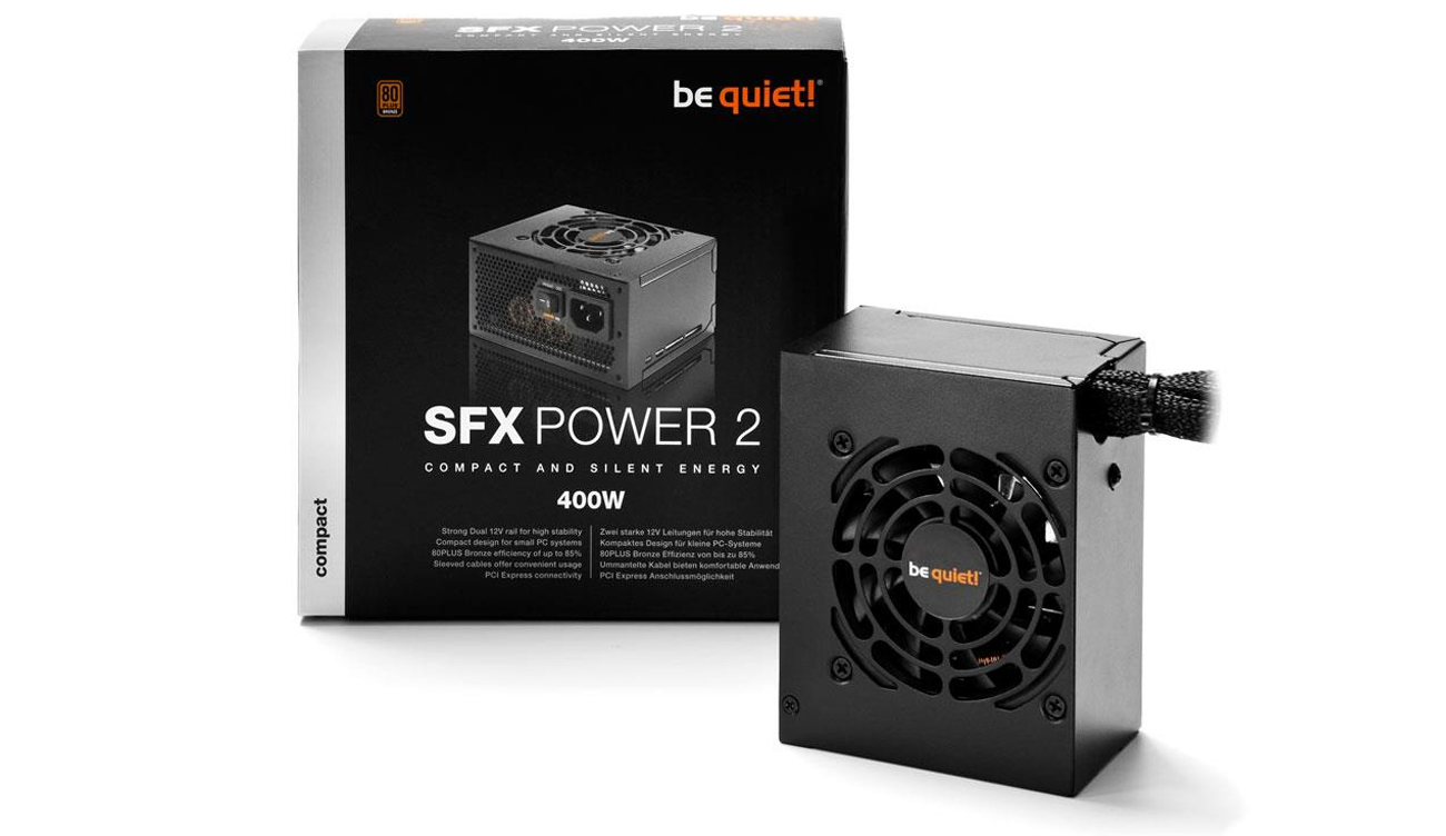 Zasilacz komputerowy Be Quiet 400W SFX Power 2 BOX BN227