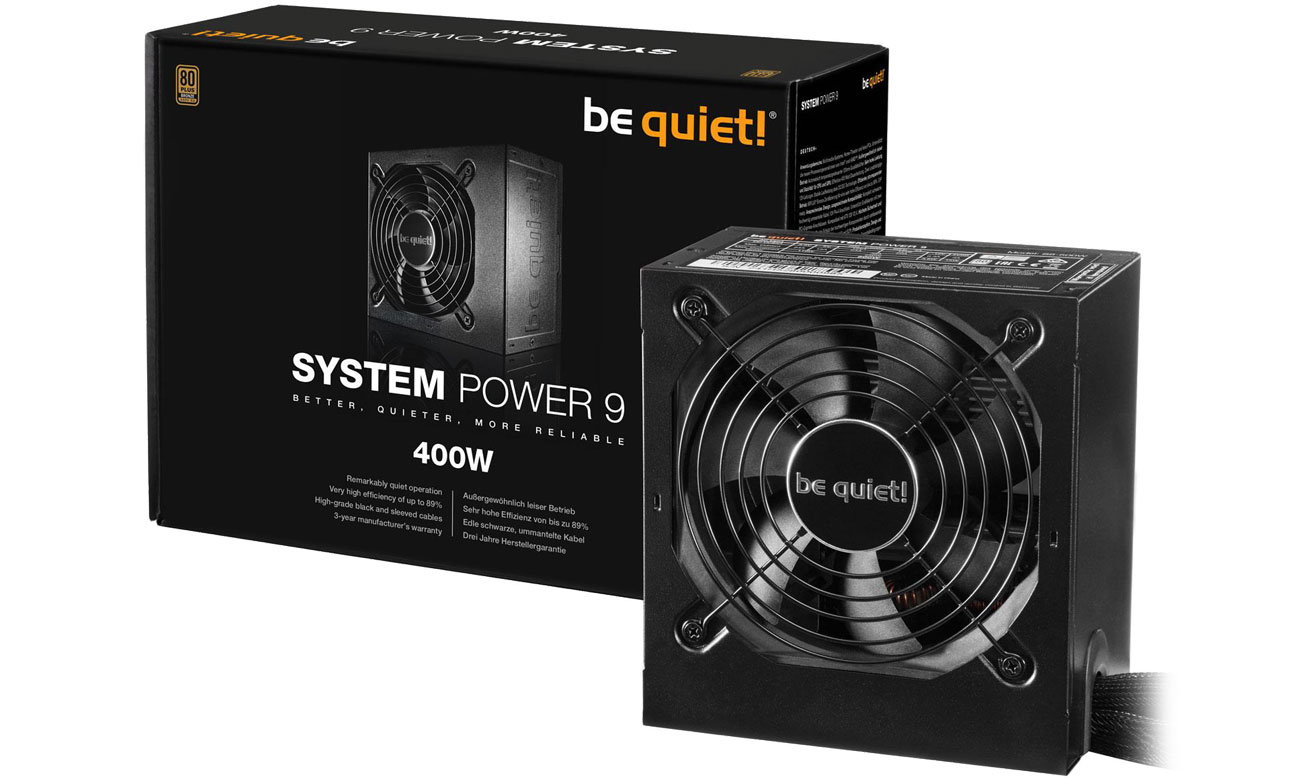 Zasilacz be quiet! System Power 9 400W BN245