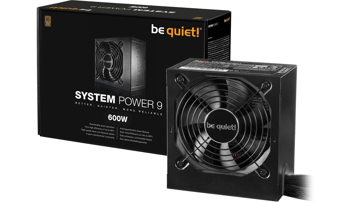 Zasilacz be quiet! System Power 9 600W BN247