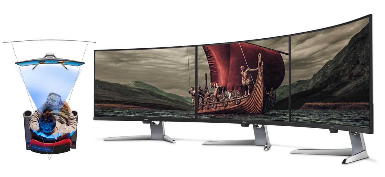 Benq EX3203R Idealna krzywizna ekranu 1800R