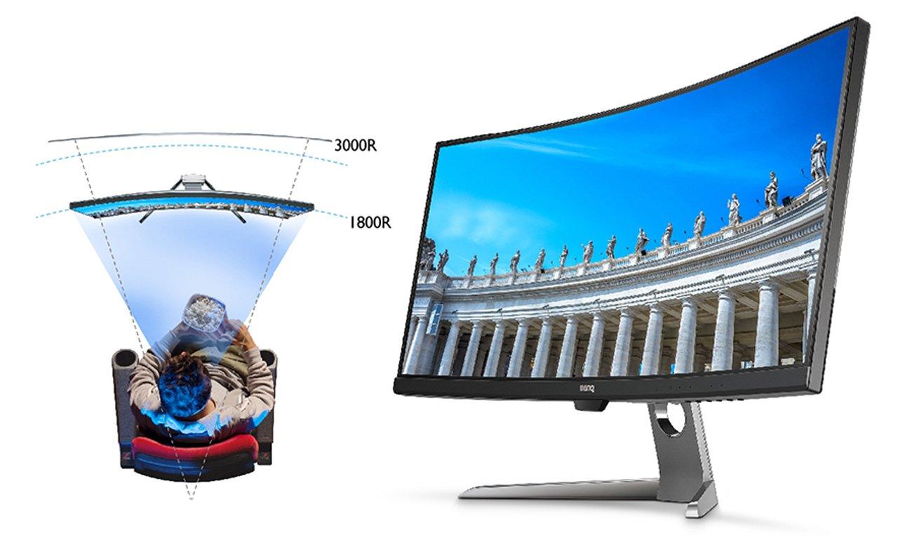 BenQ EX3501R zakrzywiony ekran