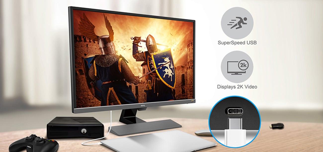 BenQ EW3270U Interfejs USB-C