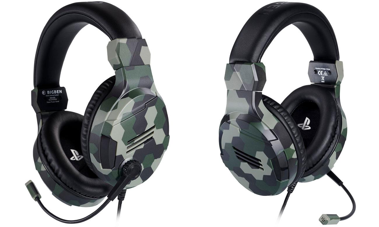 Zestaw słuchawkowy BigBen do konsoli PS4 Camo Zielone