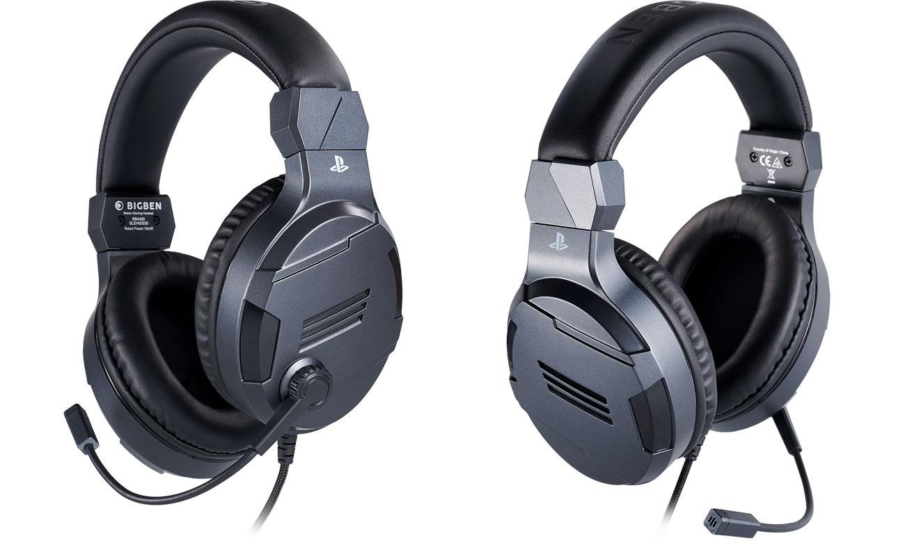 Zestaw słuchawkowy BigBen do konsoli PS4 Tytanowy