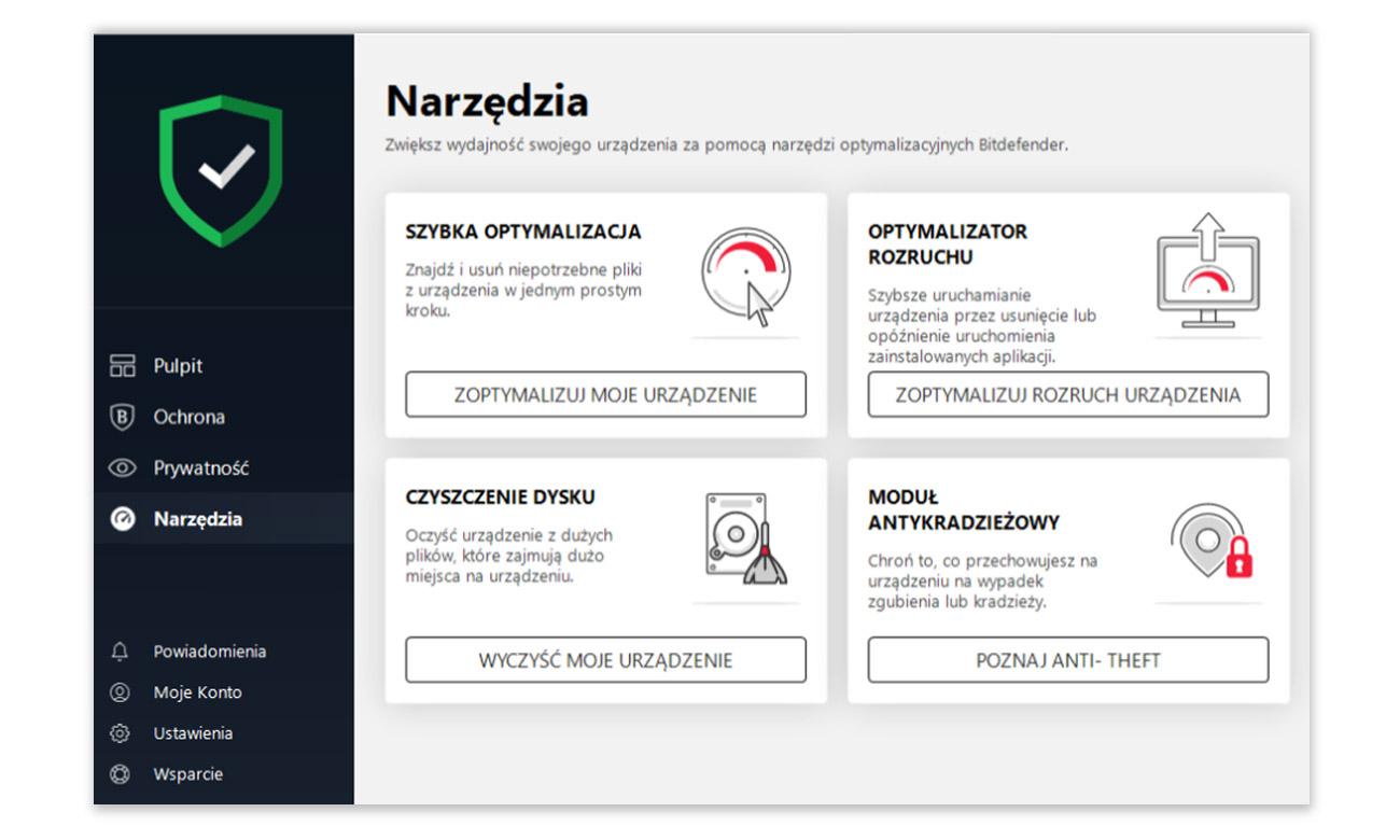 Bitdefender Antivirus Plus 2019 Zapobieganie zagrożeniom sieci