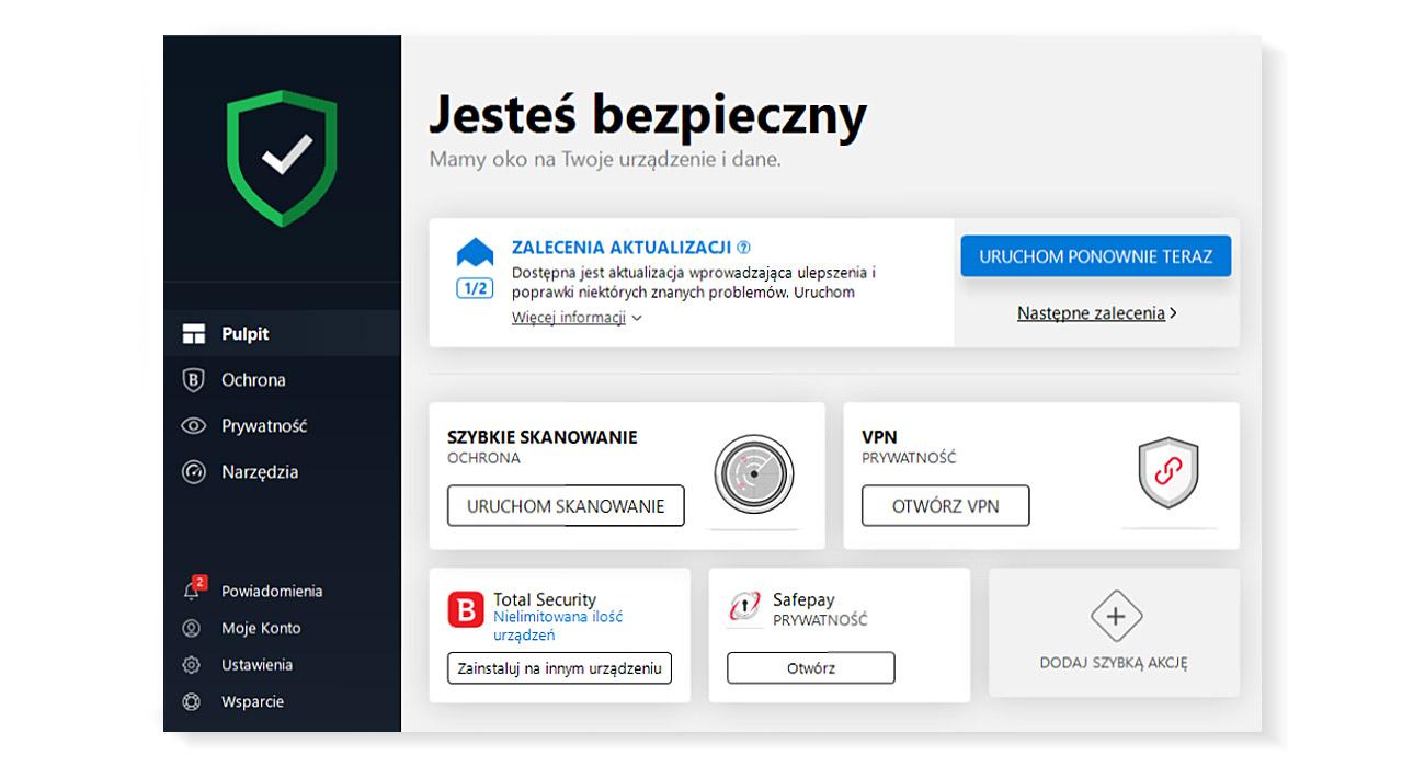 Bitdefender Internet Security 2019 Zaawansowana ochrona dla systemu Windows