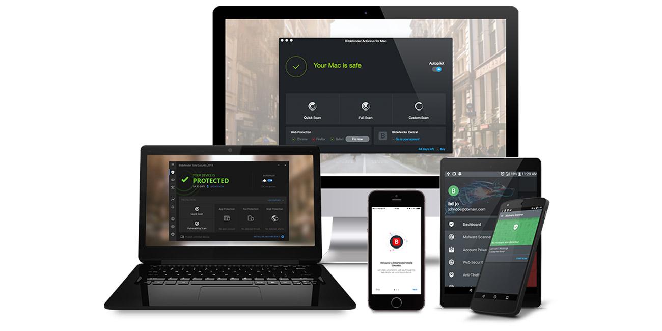 Bitdefender Total Security 2019 Pakiet produktów do ochrony wielu urządzeń