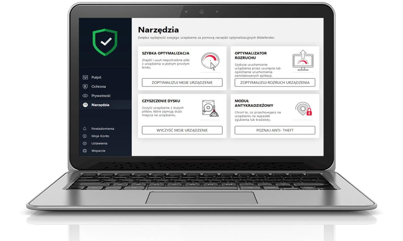 Bitdefender Total Security 2019 Funkcjonalności dla systemu Windows