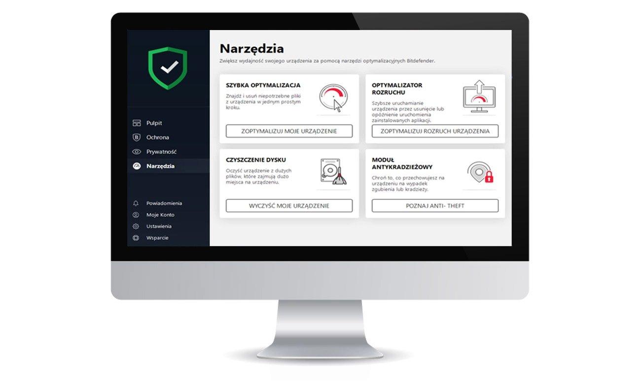 Bitdefender Total Security 2020 Funkcjonalności dla systemu Mac