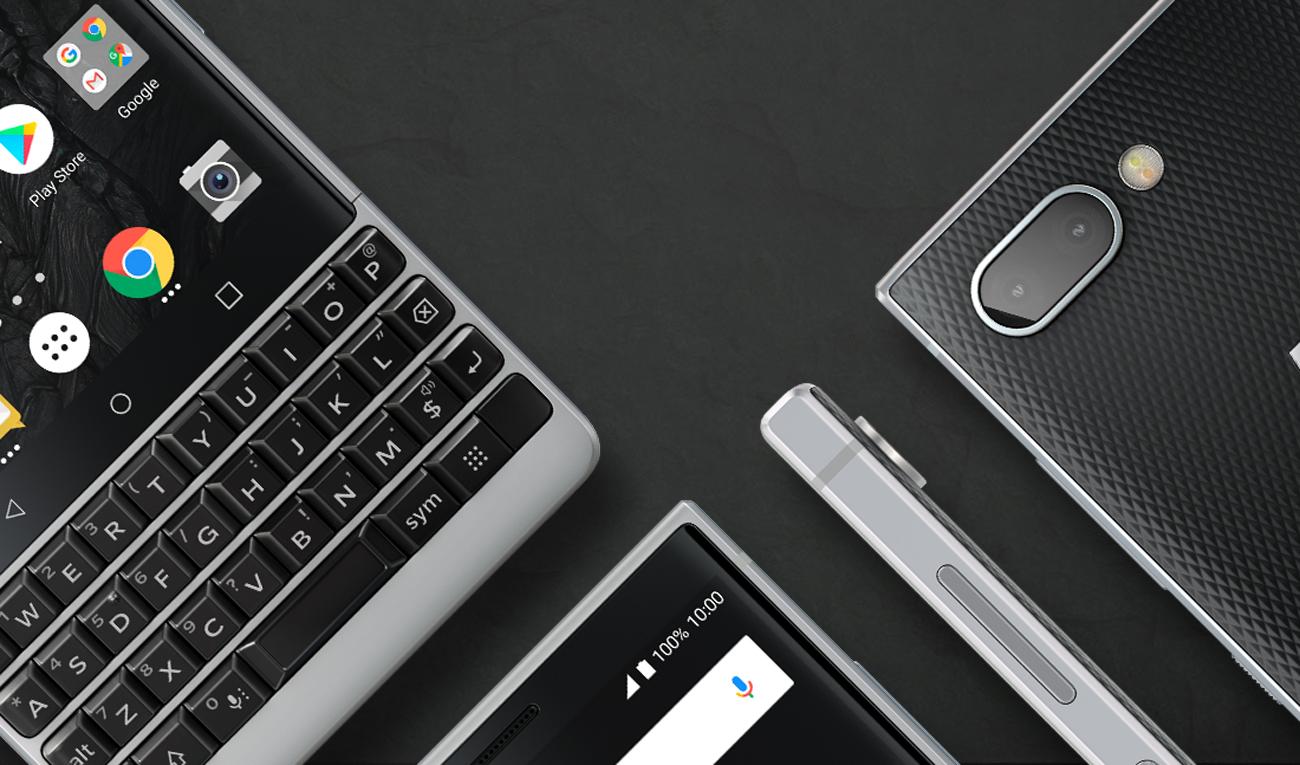 BlackBerry KEY2 klawiatura QWERTY z funkcją trackpadu