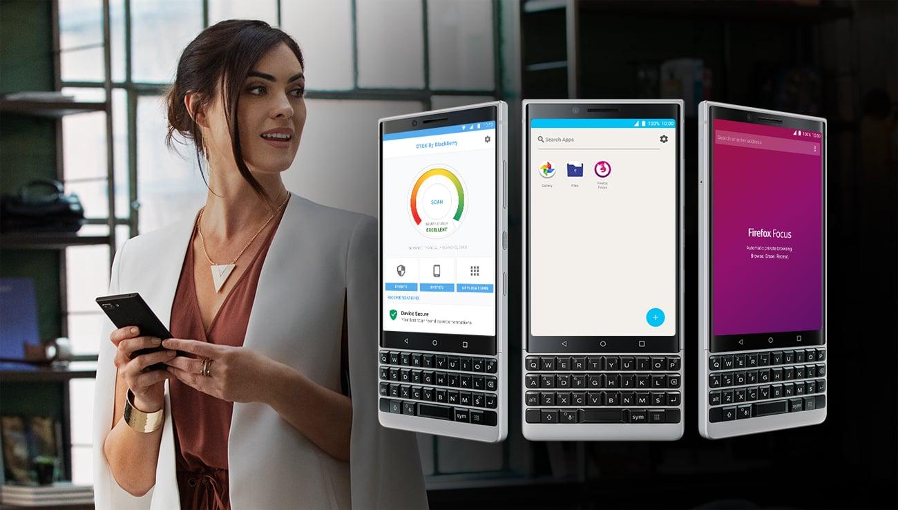 BlackBerry KEY2 bezpieczny android oreo z DTEK