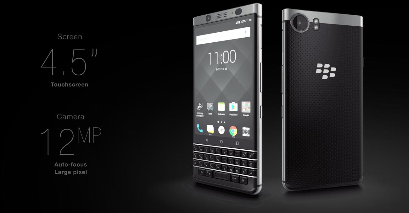 srebrny BlackBerry KEYOne aluminiowa rama odporny ekran