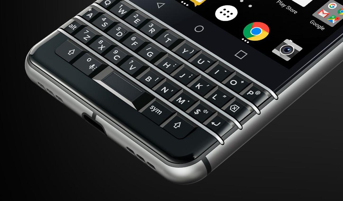 BlackBerry KEYOne klawiatura QWERTY z funkcją trackpadu