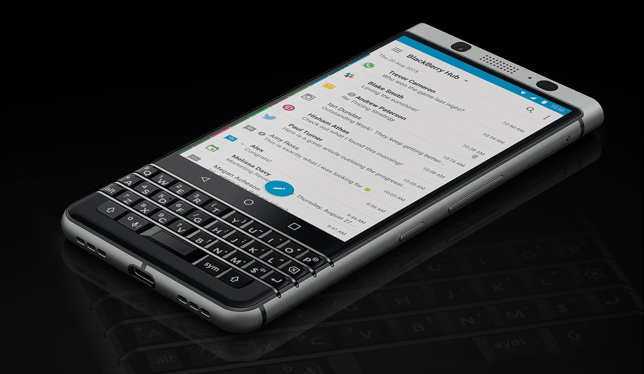 BlackBerry KEYOne zarządzanie wiadomościami Blackberry HUB