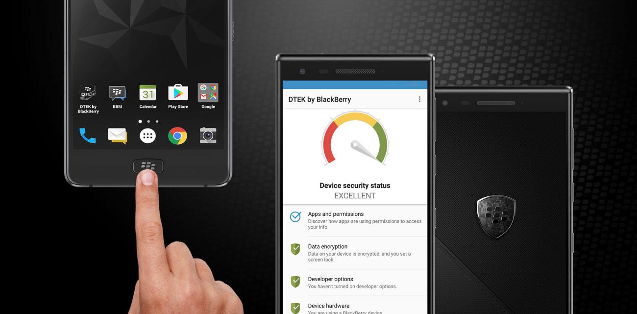 BlackBerry MOTION czytnik linii papilarnych