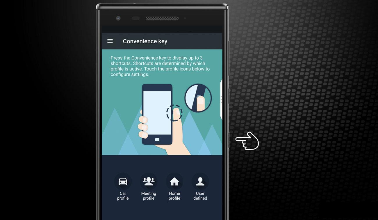 BlackBerry MOTION przycisk wielofunkcyjny