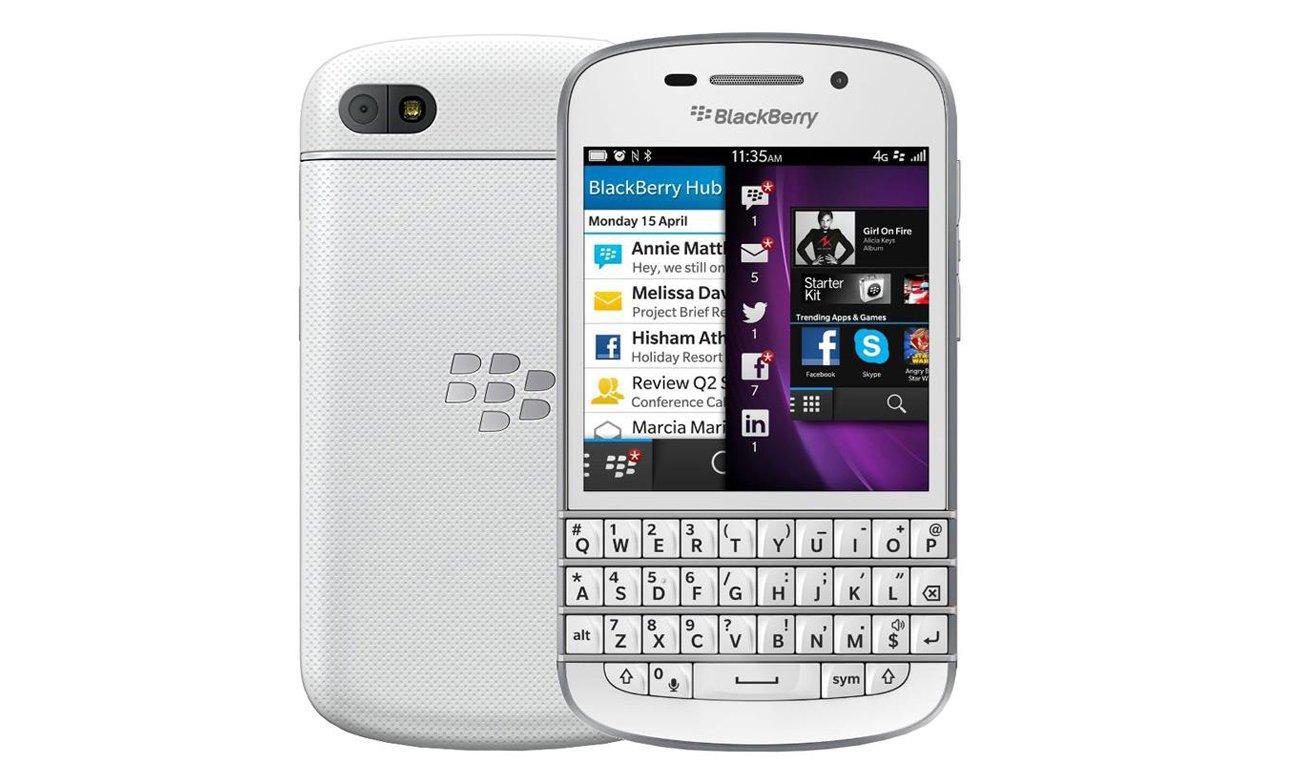 Biały BlackBerry Q10