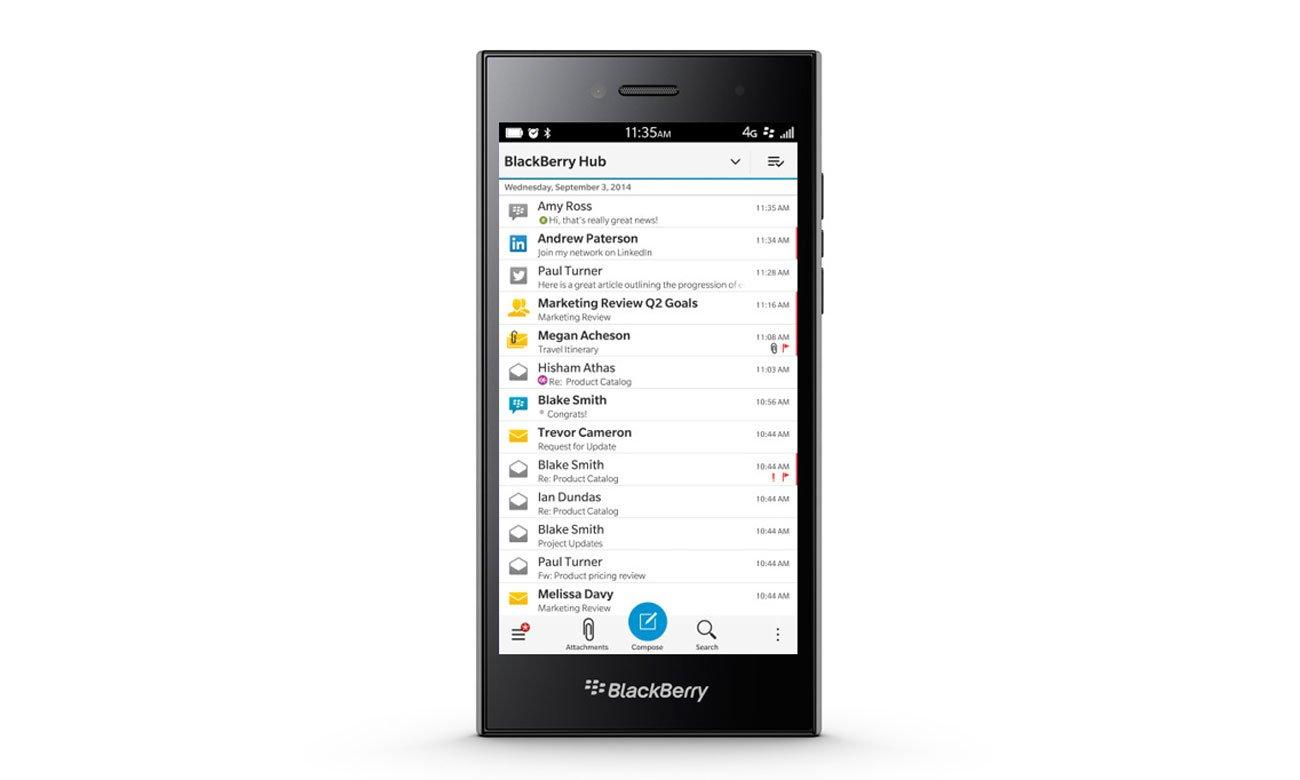 Opanuj wiadomości dzięki BlackBerry Hub