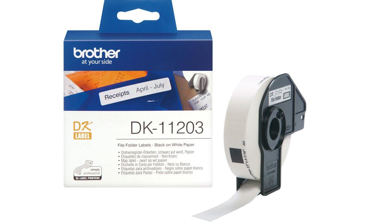 Etykiety papierowe Brother DK-11203