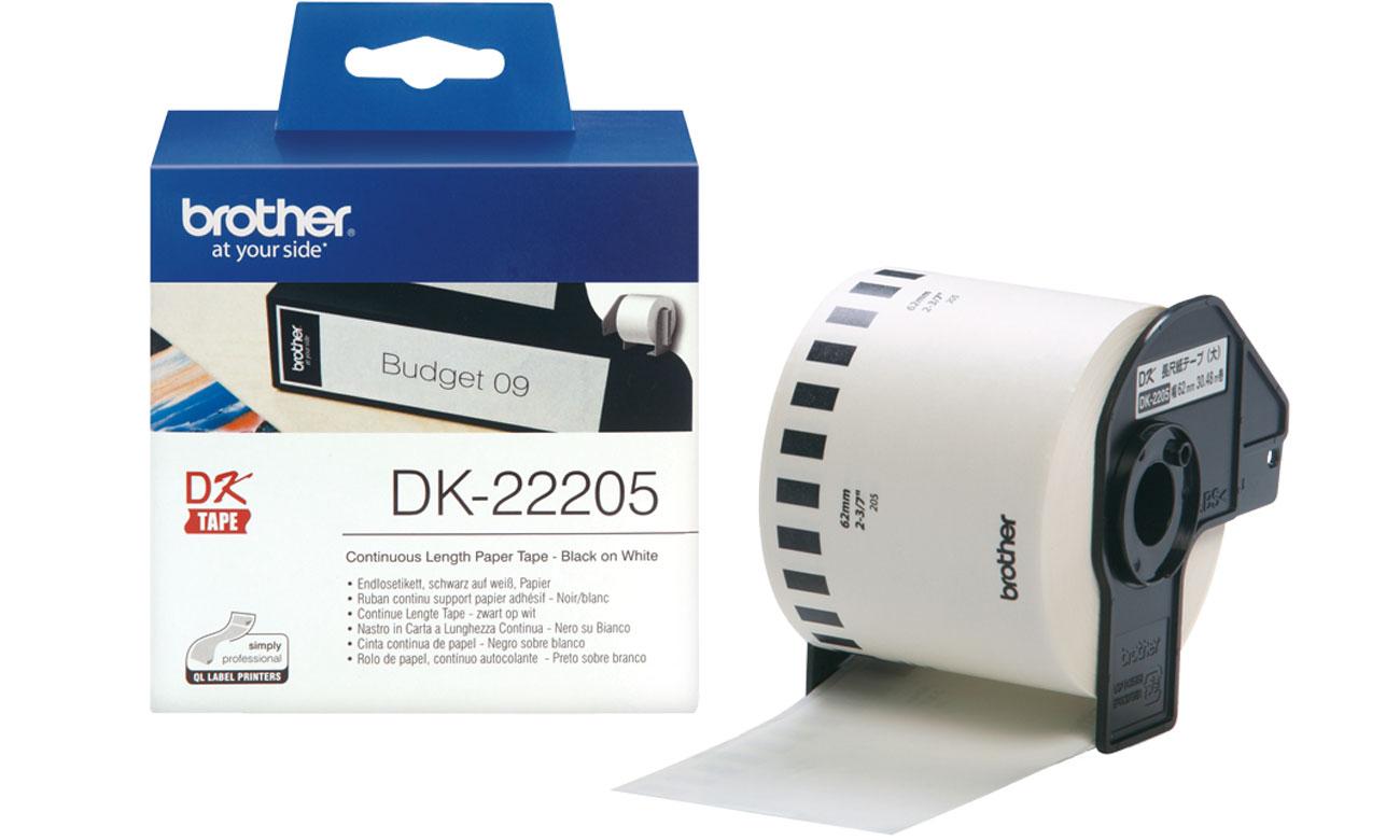 Etykiety papierowe Brother DK-22205