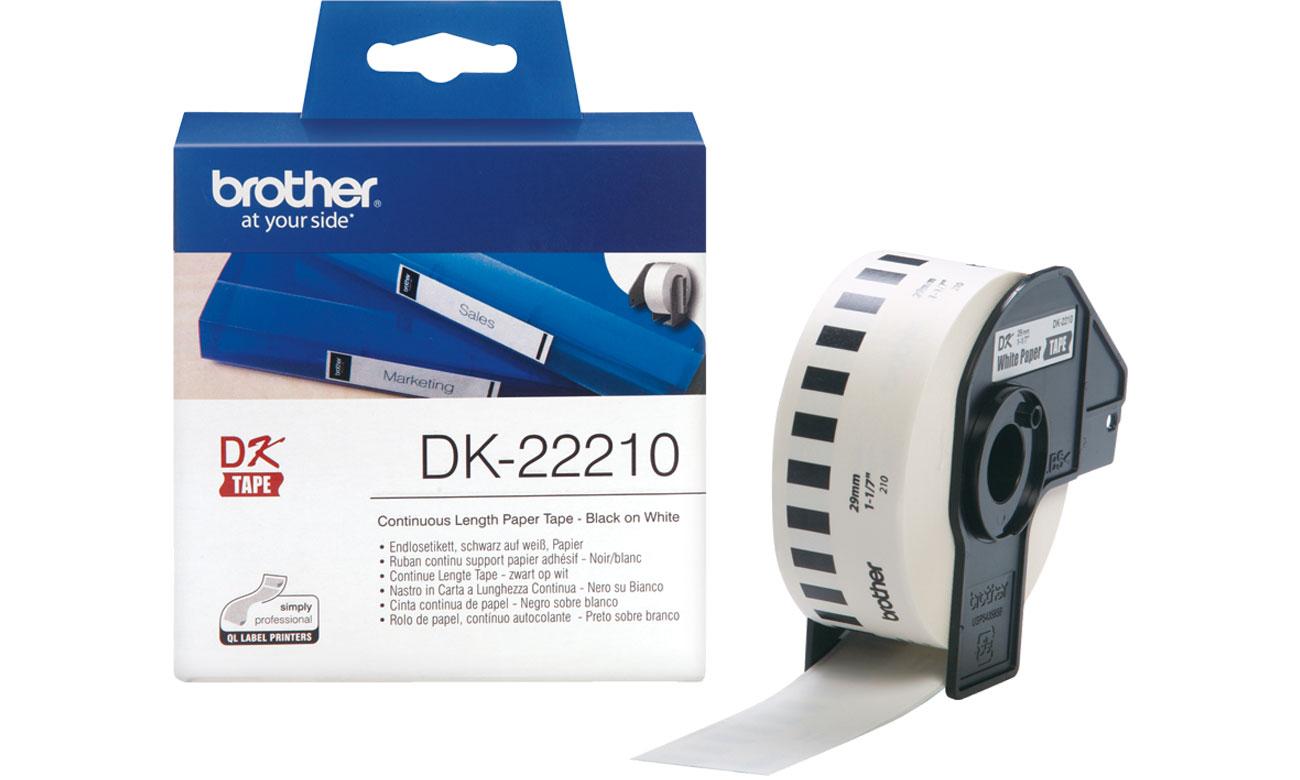 Etykiety papierowe Brother DK-22210