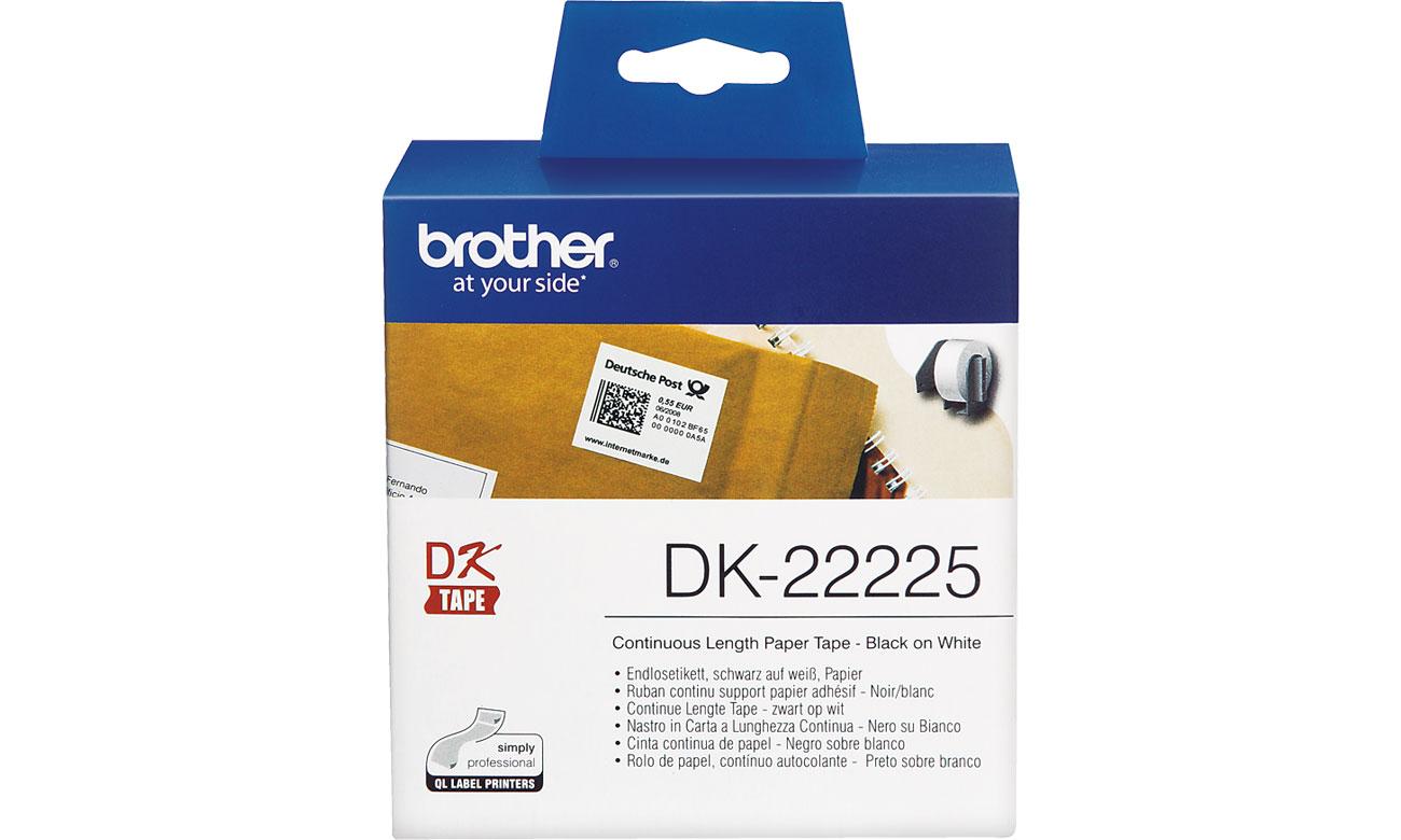 Etykiety papierowe Brother DK-22225