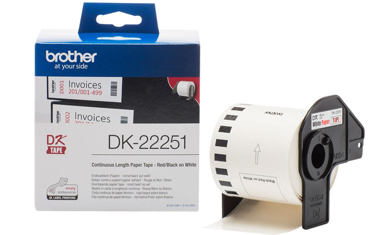 Etykiety papierowe Brother DK-22251