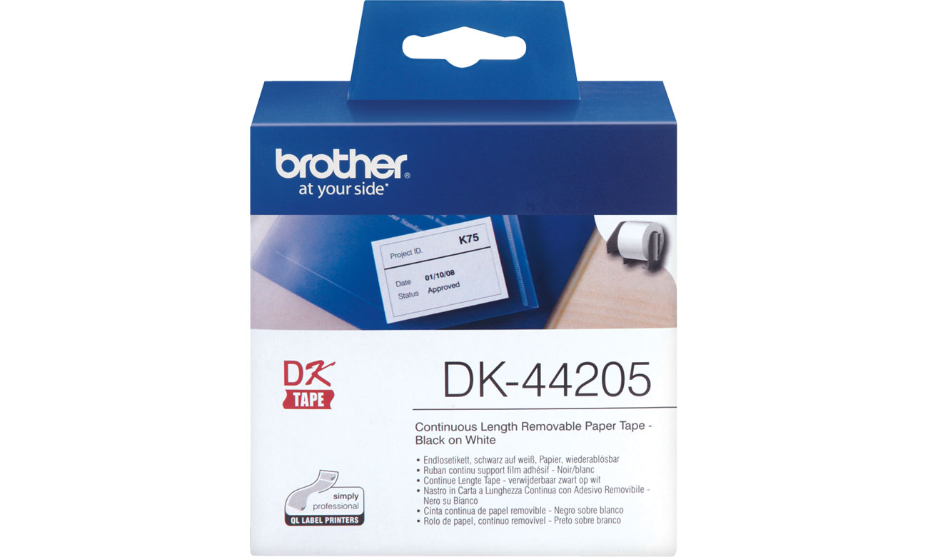 Etykiety papierowe Brother DK-44205
