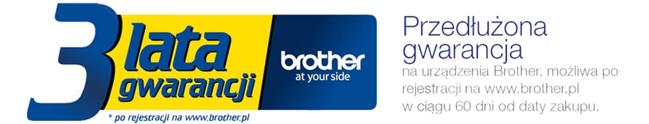 3 lata gwarancji, 36 miesięcy gwarancji Brother DS620