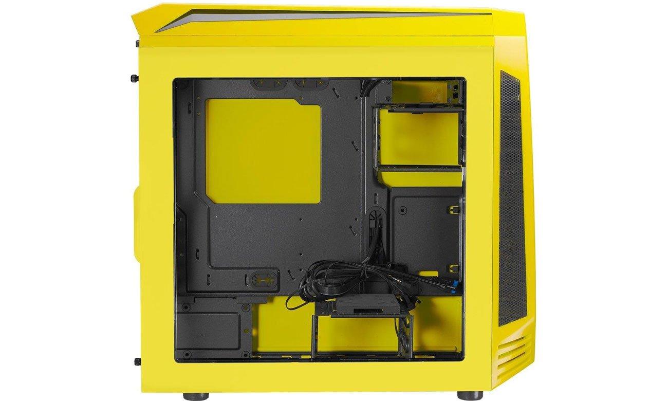 Bitfenix Aegis Core Żółto-Czarna Wnętrze