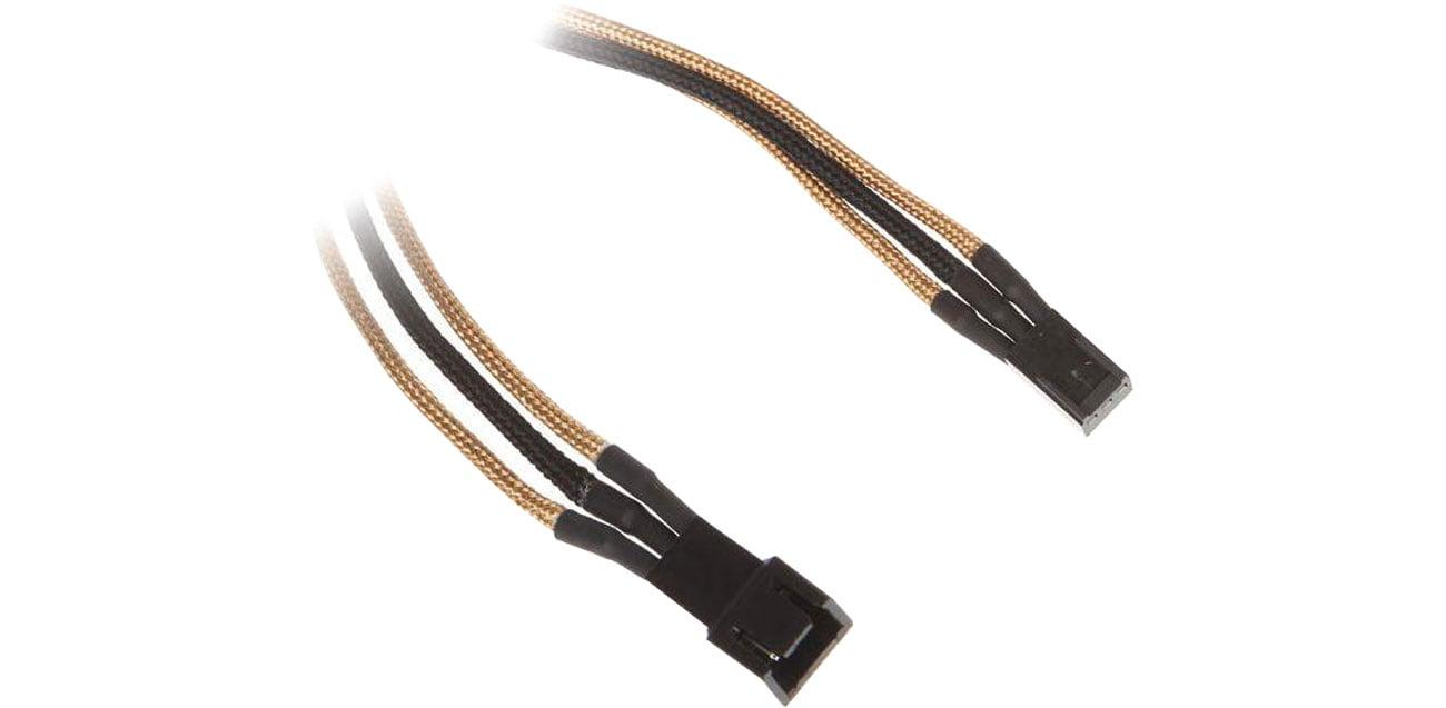 Bitfenix Przedłużacz 3-Pin 60cm złoty/czarny
