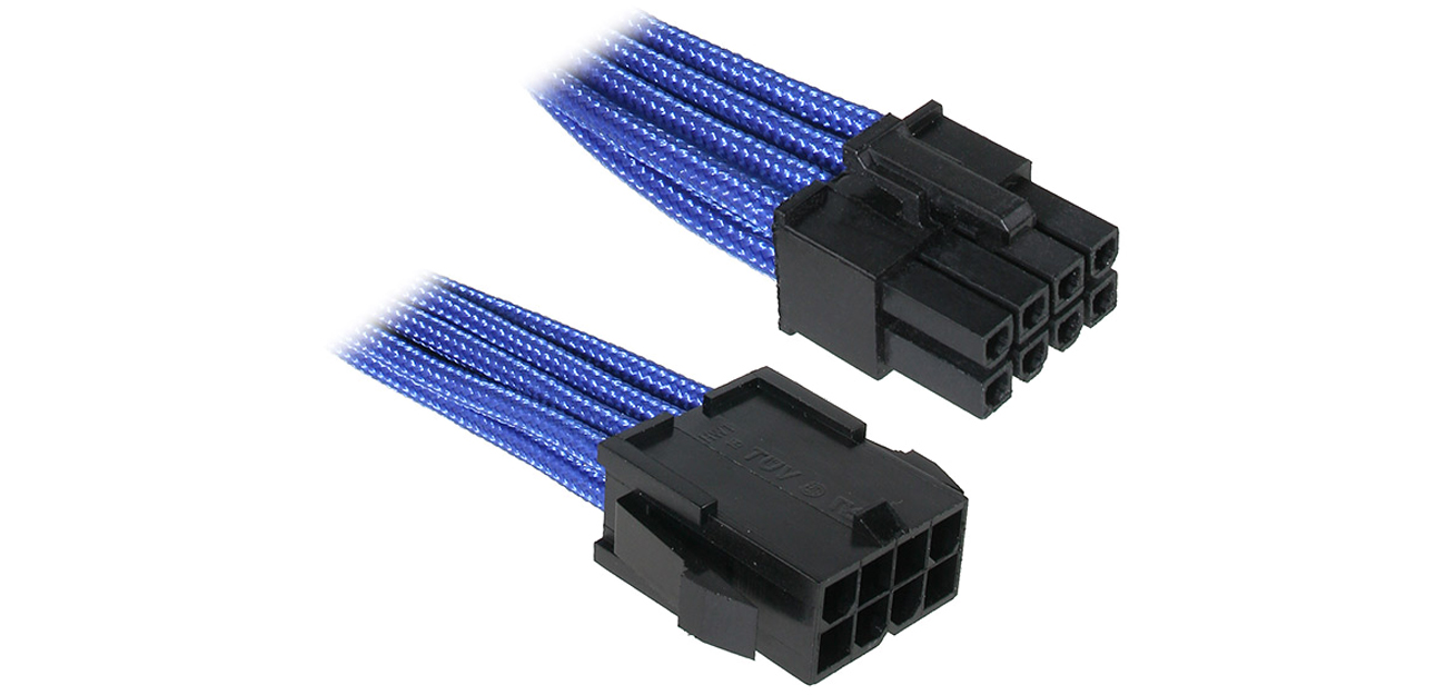 Bitfenix Przedłużacz 8 Pin 45cm niebieski BFA-MSC-8EPS45BK-RP