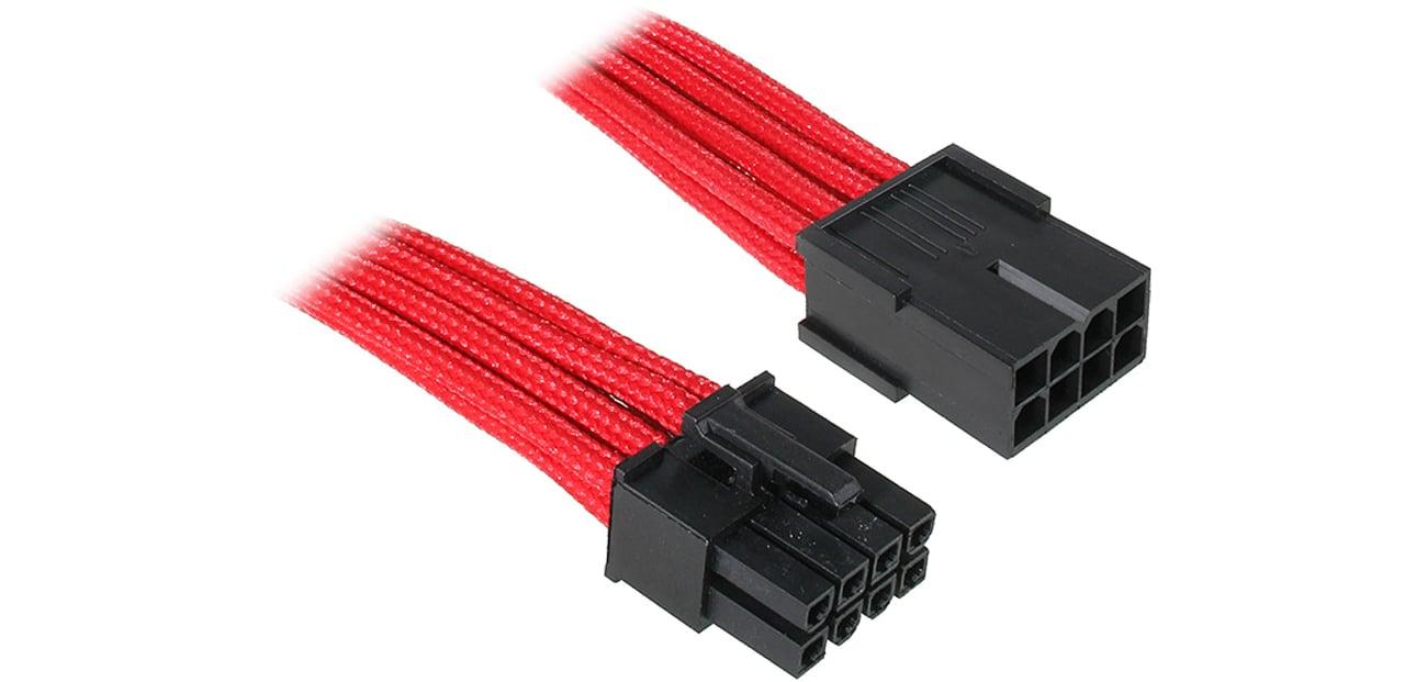 Bitfenix Przedłużacz 8 Pin 45cm czerwony BFA-MSC-8EPS45RK-RP