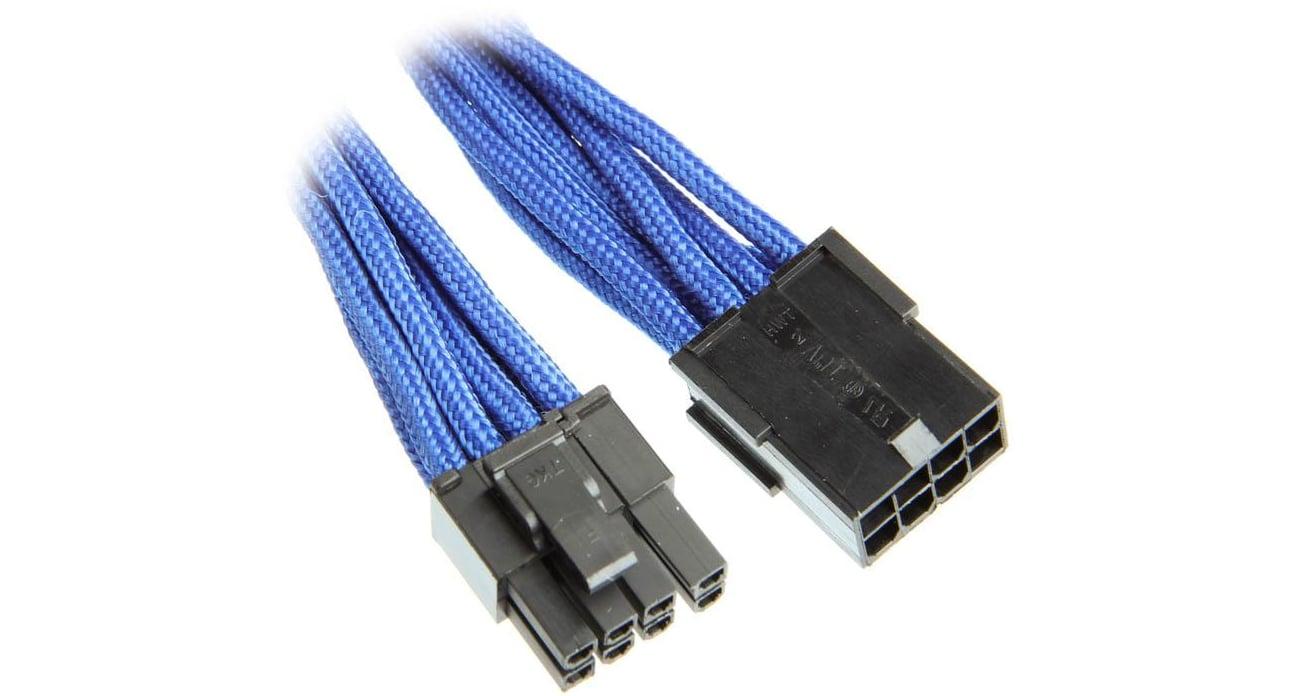 Bitfenix Przedłużacz 6+2 Pin PCIe 45cm niebieski BFA-MSC-62PEG45BK-RP