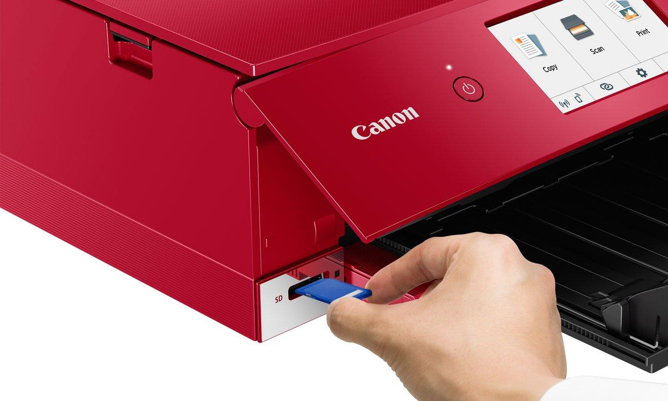 Urządzenie wielofunkcyjne Canon PIXMA TS8352 czerwona