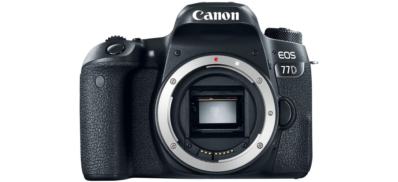 Canon EOS 77D Body Widok Z Przodu