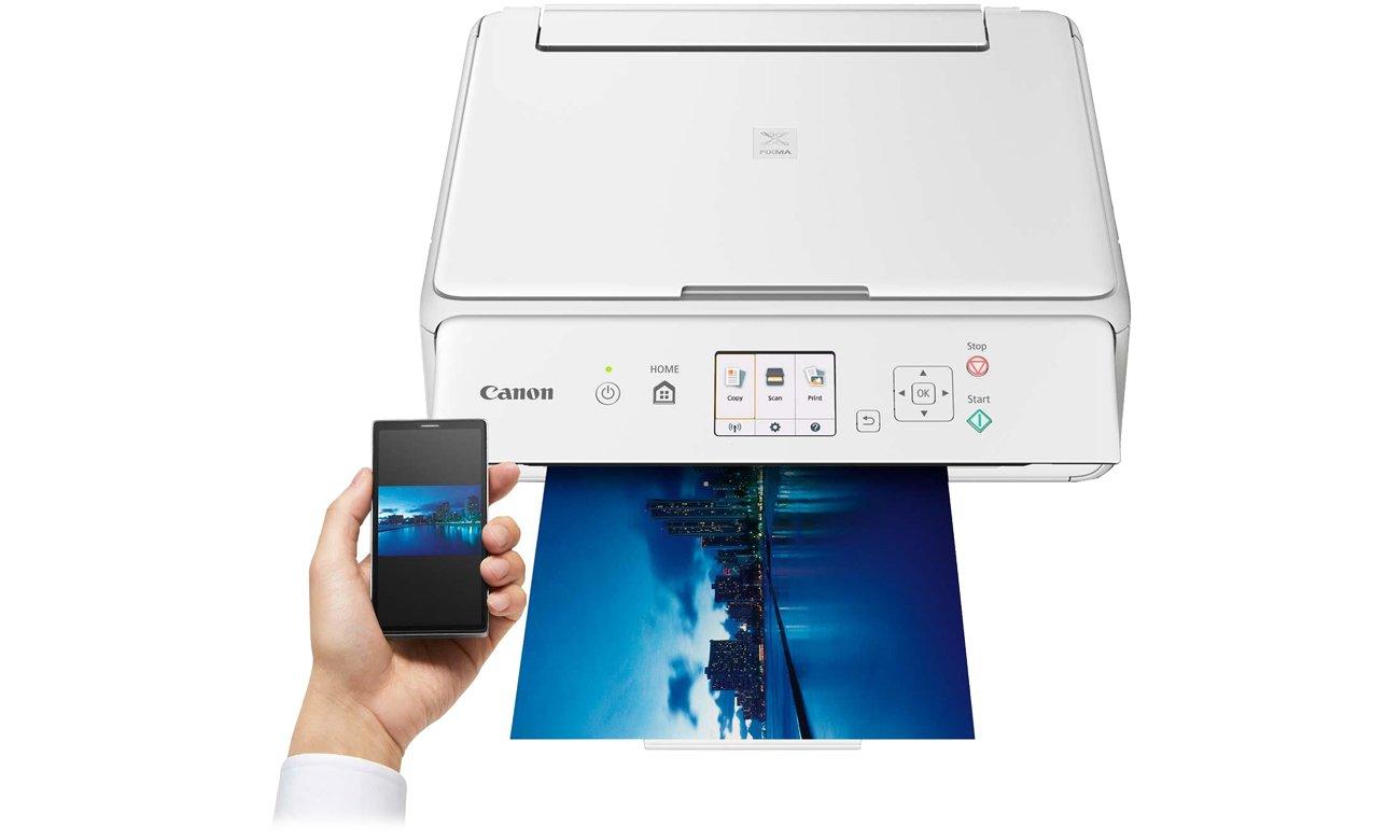 Canon Pixma TS5051 drukowanie z urządzeń mobilnych