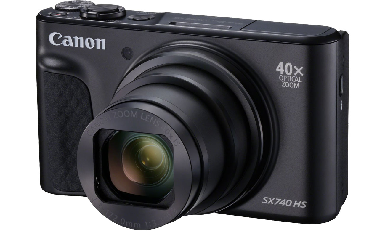 Aparat kompaktowy Canon PowerShot SX740 czarny 2955C002AA