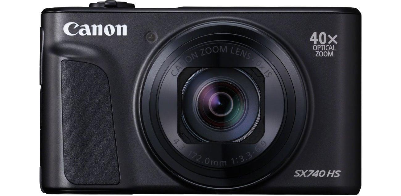 Canon PowerShot SX740 Widok z przodu
