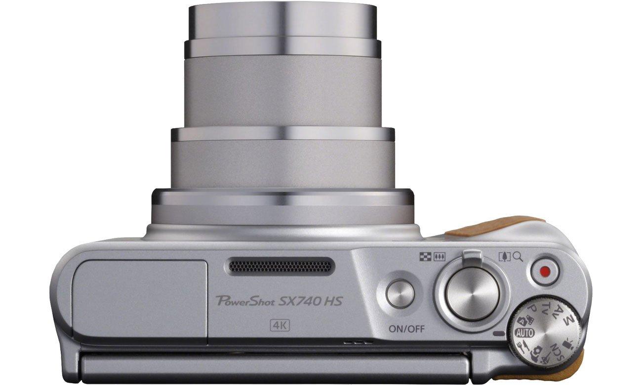Canon PowerShot SX740 Widok z góry, obiektyw