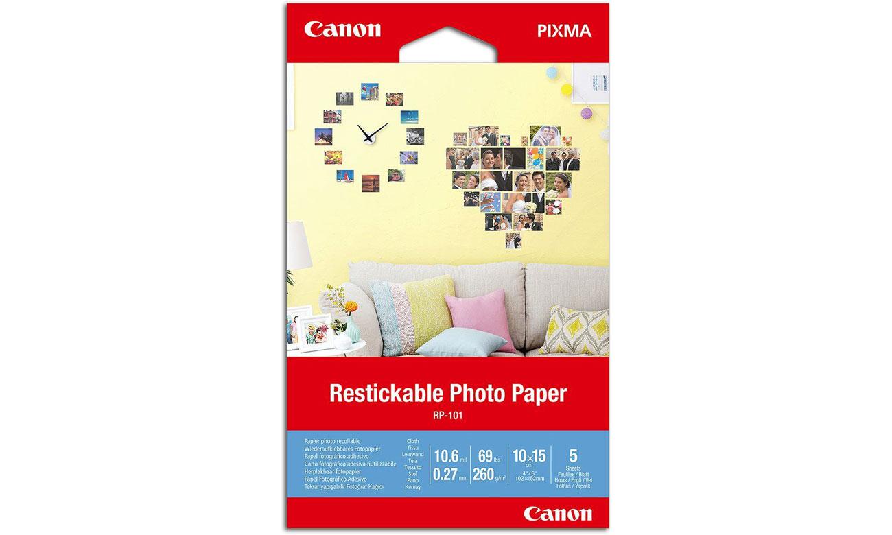 Papier do drukarki Canon Naklejki fotograficzne RP-101 899697
