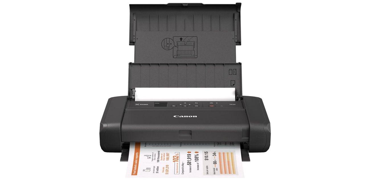 Универсальный мобильный принтер Canon Pixma TR150 с аккумулятором